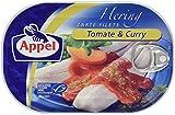 Appel Heringsfilet, zarte Fisch-Filets Tomate & Curry, MSC zertifiziert, 10er Pack (10 x 200 g Dose)