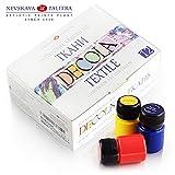 Hochwertiges Textilfarbe Set | 12 x 20ml | Stoffmalfarben waschfest | von Nevskaya Palitra