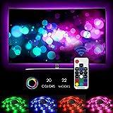 Neueste LED TV Hintergrundbeleuchtung, Zknen 2M USB Led TV Strip Beleuchtung RF Wireless Remote 20 Farben 22 Modi LED Stripes Lichterkette Streifen LED 4 Stück 50cm Fernbedienung Selbstklebend