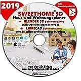 Sweet Home 3D Version 6.0 'SWEET HOME 3D' 2019 Haus-und Wohnungsplaner 3D Software Premium PLUS= BLENDER und LIBRE-CAD