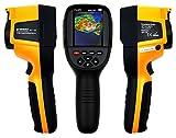 Komerci HT-18 Infrarot Wärmebildkamera 220x160 Pixel Thermodetektor Thermokamera bis 300°C mit Bildmischung, Schwarz/Gelb