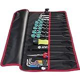 PARAT Werkzeugtasche Basic Roll-Up Case (15 Einsteckfächer, Nylon, mit Steckverschluss, 67x33x0,5 cm) 5990828991, schwarz