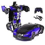 KEPTEI RC Transformator Roboter-Auto Fernbedienung Rennwagen 1:14 Skala mit funktionierendem Lichter, Elektrisch ferngesteuert Fernbedienung Aktion Deformation Figur