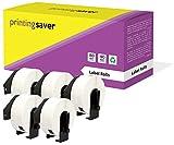 5 Rollen Brother DK11201 DK-11201 29mm x 90mm Adress-Etiketten kompatibel für Brother P-Touch QL-500 QL-550 QL-560 QL-570 QL-580N QL-650TD QL-700 QL-720NW QL-1050 QL-1060N (400 Etiketten pro Rolle)