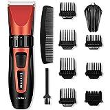 Haarschneidemaschine Akku Haarschneider Männer Herren Haartrimmer Profi Edelstahlkeramikklingen mit 7 Aufsteckkämmen kabellos von ELEHOT -Verpackung MEHRWEG
