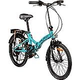 Galano 20 Zoll Klapprad Metropolis Fahrrad Faltrad Campingrad, Farbe:blau