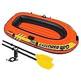 Intex Schlauchboot Explorer Pro 200 Set Phthalates Free Inkl. 2 Paddel und Luftpumpe, 196 X 102 X 33 cm