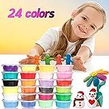 Springknete, Migimi Kinderknete knete kinder Intelligente Knete Hüpfknete für Kinder DIY Handgemachtes Lernen - 24 Farben
