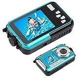 Unterwasserkamera, 24 MP, Wasserdichte Camcorder-Kamera, Dual-Display, LCD-Display, wasserdicht, für Selfies, Videokamera