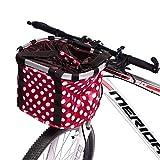 Brownrolly Abnehmbarer Fahrrad-Lenkerkorb, Schnellentriegelung für Haustiere, Katzen, Hunde, Fahrradkorb, Abnehmbarer Fahrradlenker zum Aufhängen, für Fahrradfahren, Bergsteigen, Picknick, Einkaufen