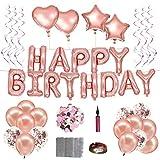 Geburtstagsdeko,deko rosegold,ballons rosegold happy birthday ballon,happy birthday deko,rosegold deko geburtstagsdeko rosegold