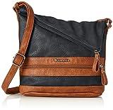 Tamaris Damen Smirne Crossbody Bag Umhängetasche, Blau (Navy Comb.), 30x7,5x22 cm