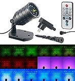 Lunartec Sternenprojektor: Laser-Projektor mit 12 LEDs, 8 Licht-Effekte, Timer, Fernbed, IP65 (Gartenlaser)