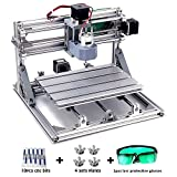 DIY CNC Router Kits, MYSWEETY CNC Gravur Maschine 2418 DIY Grbl Kontrolle 3 Achsigen Graviermaschine Fräsmaschine Fräse Maschine Arbeitsbereich 240x180x45mm