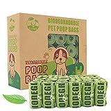 CYCLUCK 450 Stück Hundekotbeutel mit Duft Biologisch Abbaubar Tropfsichere Reißfest Hundetüten Hergestellt aus Maisstärke (Grün)