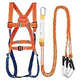 WZRIOP Fallschutz Auffanggurt, Auffanggurt mit Bandfalldämpfer Bergsteigen breiterer 5 Punkt Komplettgurt Taille (bis 100 kg) für Bergsteigen Sportklettern Baumklettern Feuerwehr Outdoor