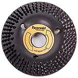 Bayerwald 'Black Biter' - Raspelscheibe - Ø 115 mm x 22,2 mm | schnelles, grobes Abschleifen von Holz & Holzwerkstoffen | für Winkelschleifer