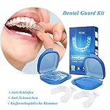 Zahnschutz-Kit, Luckyfine Mundschutz Verhindern effektiv Zähneknirschen, Anti Schnarch Schiene und Atmungshilfe, Schützt Zähne, Zahnfleisch & Kiefer
