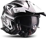 Soxon SR-400 Storm 'Titan' · Jet-Helm · Motorrad-Helm Roller-Helm Scooter-Helm Bobber Mofa-Helm Chopper Retro Cruiser Vintage Pilot Biker · ECE Sonnenvisier Schnellverschluss Tasche L (59-60cm)
