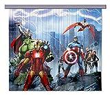 AG Design FCSXL 4328 Avengers Marvel, Kinderzimmer Gardine/Vorhang, 180x160 cm, 2 Teile (1 teil: 90x160 cm), Stoff, Multicolor, 0,1 x 180 x 160 cm