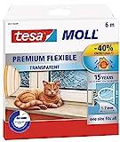 tesamoll Silikondichtung Premium Flexible - schließt Fenster- und Türspalten, transparent, 6 m (3er Pack)