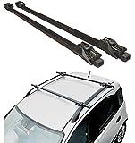 Hardcastle Dachträger fürs Auto - abschließbar als Diebstahlschutz - Schwarz - 120 cm