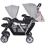 Vislone Geschwister Zwillings - Kinderwagen für Babys und Kleinkinder, Zwillingsbuggy, Geschwisterwagen, Buggy Kinderwagen ab 6 Monate