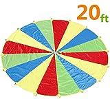 6M Schwungtuch für Kinder und Familie - Bunt Fallschirm Parachutes Spielzeug
