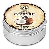 Kokosöl 220ml - Cocos Nucifera - Indonesien - Kaltgepresst - 100% Rein & Natürlich - Kokosnussöl - Unraffiniert - Körperbutter - Pflege für Gesicht - Haar - Körper - Coconut Oil