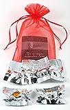 6er-Mix Teeblumen aus Weißtee, Schwarztee- und Grüntee mit natürlichen Calendula, Jasmin, Hibiskus- und Rosenblüten Organzasäckchen - auch als Geschenk zu Weihnachten, Valentinstag oder Muttertag