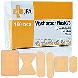 JFA Wasserfeste Pflaster, 6 verschiedene Größen, 100 Pflaster pro Packung