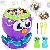 VATOS Seifenblasenmaschine, Seifenblasen Spielzeug Automatischer Bubble Machine mit 1000+ Blasen pro Minute, Seifenblasenmaschine für Kinder mit 2 Flüssigkeit für Party, Badezeit, Indoor und Outdoor