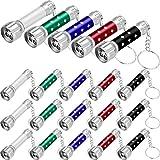 20 Stücke Mini Taschenlampen Schlüsselbund 5 Lampen Led Schlüsselanhänger für Camping Kinder Party Favors (Style 5)