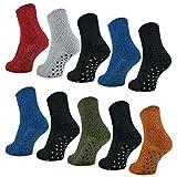 6 oder 12 Paar ABS Kuschelsocken mit Anti Rutsch Sohle Damen Kuschel Socken - 37423 - sockenkauf24 (35-42, 6 Paar | Farbmix)