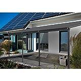 Home Deluxe | Terrassenüberdachung | grau | Inkl. komplettem Zubehör | 495 x 303 x 226/278 cm