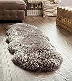 Yukon International Schaffell-Teppich Doppel, Grau