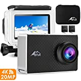BFULL 2.45' Touchscreen 4K Action Cam, 20MP WiFi Action Ultra HD Sport Camera Unterwasser wasserdicht Camcorder 170° CMOS Sensor 2 bessere Batterien 1050Mah, Tragetasche und Befestigungszubehör