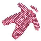 D DOLITY Schöne Baby Puppe Kleidung Strampler Jumpsuit Outfit für 14,5 Zoll Puppe - D - Rot
