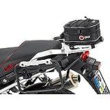 QBag Hecktasche Motorrad Hecktasche 02 Motorradgepäck Tasche Hinterradgepäckträger, universell, einfache Montage, 5 bis 8 Liter Stauraum, schwarz