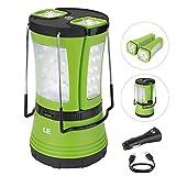 LE Aufladbare LED Camping Laterne mit 2 abnehmbaren Mini Taschenlampen 600lm , Wasserdichte Zeltleuchte, Notfallleuchte inkl. USB-Kabel und KFZ Auto-Ladegerät, Aussenleuchte für Camping, Wandern, Notfall Outdoor