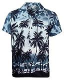 V.H.O. Funky Hawaiihemd, Kurzarm, Beach, Grau, L