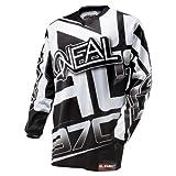 O'Neal Element Jersey RACEWEAR schwarz weiß Moto Cross Downhill Motorrad Trikot DH MX, 0016R-10, Größe Small