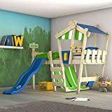 WICKEY Kinderbett 'CrAzY Hutty' mit Rutsche - Hochbett in verschiedenen Farbkombinationen - 90x200 cm