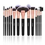 BESTOPE 14 Stück Make Up Pinsel Set Kosmetik Pinsel Premium Synthetische Kabuki Makeup Pinsel Schminkpinsel Set Foundation Concealer Lidschatten Eyeliner Kompaktpuder Kosmetikpinsel Beauty Tools (Rosa