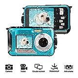 Unterwasserkamera Digitalkamera 24MP Digitalkamera Wasserdicht Full HD 1080P Self Shot Dual Screen Unterwasser Kamera