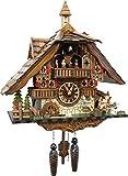 Kuckucksuhr 'Große Wildpark Mühle' von SCHWARZWALD-PALAST mit Quarz-Uhrwerk - Höhe 42cm
