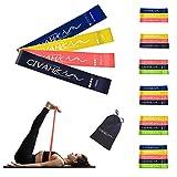 CIVAH widerstands bänder naturlatex fitnessbänder Übung Rallye-gürtel Indoor-Fitness beinmuskel-Pilates-Yoga-Rehabilitation Übung Set of 3