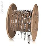 Seilwerk STANKE m 10mm Rundstahlkette langgliedrig METERWARE verzinkt Stahlkette -- DIN Eisenkette Stahl Eisen Kette abgerundet