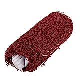Dilwe Badminton Net Einstellbare Faltbare Badminton Net Regulierung Netze für Outdoor-Sport 2 Farben (Rot)