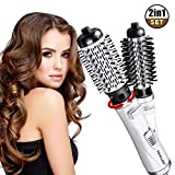 Haartrockner, Warmluftbürste, Heißluftbürste, Rotierende WarmluftbüRste Brush, Auto-Rotation-Heißluftbürste, One-Step 2 in 1 Haarstyler StylingbüRsten Elektrische Ionisch LockenbüRste